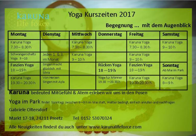 timetable Sept 2017 begegnung