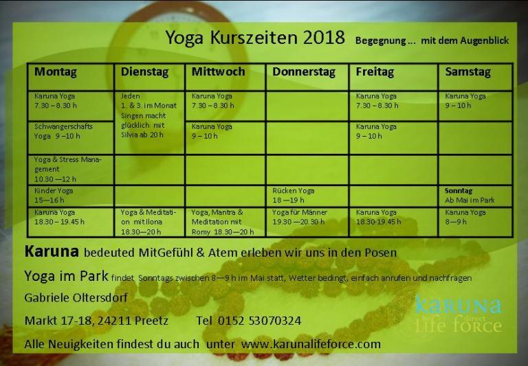 timetable Januar 2018 begegnung
